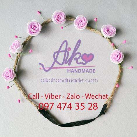 Dây cài tóc hoa cat021