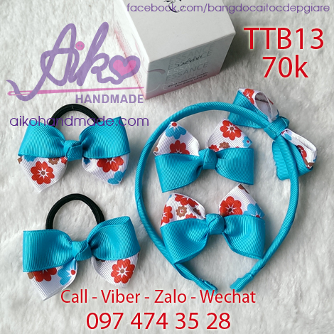 Bộ phụ kiện tóc cho bé gái TTB13