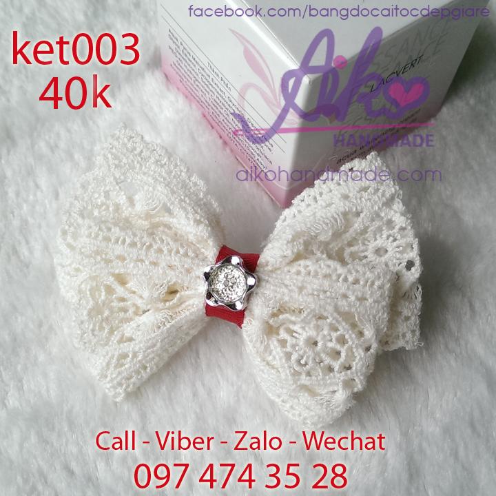 Kẹp tóc ren bướm xinh xắn nữ tính ket003