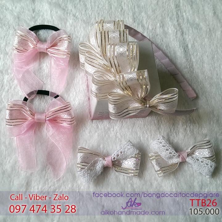 Bộ phụ kiện tóc công chúa cho bé gái TTB26