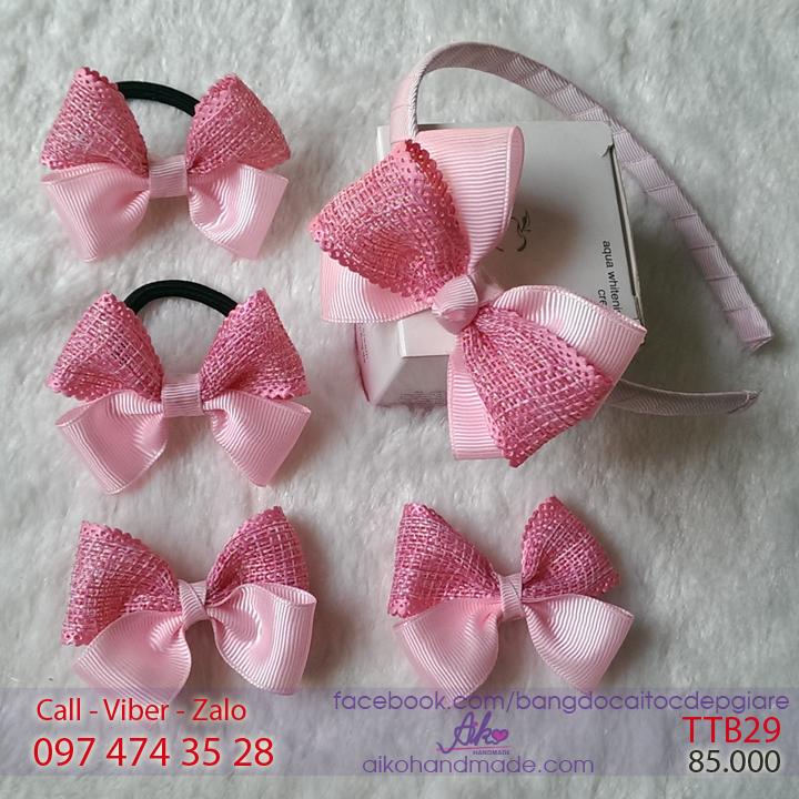 Bộ phụ kiện tóc công chúa cho bé gái TTB29